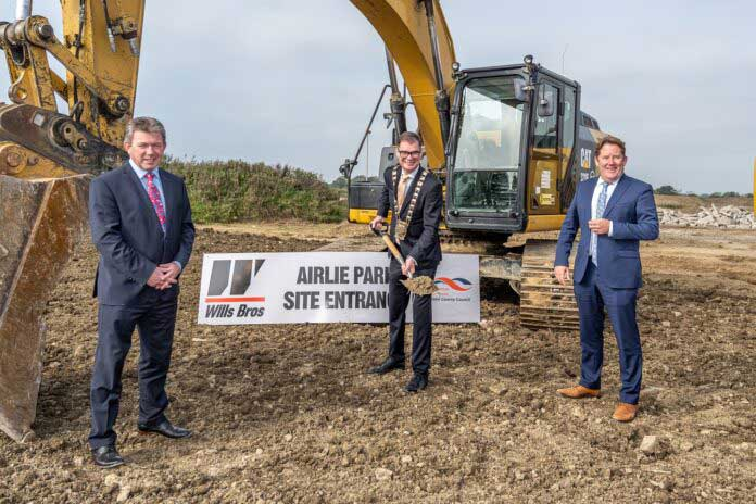 Sod turning Airle Park