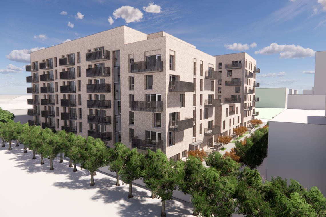 COADY Architects are delighted to announce that Part 8 Planning permission has been granted for 133 affordable apartments at Belgard Square North in Tallaght