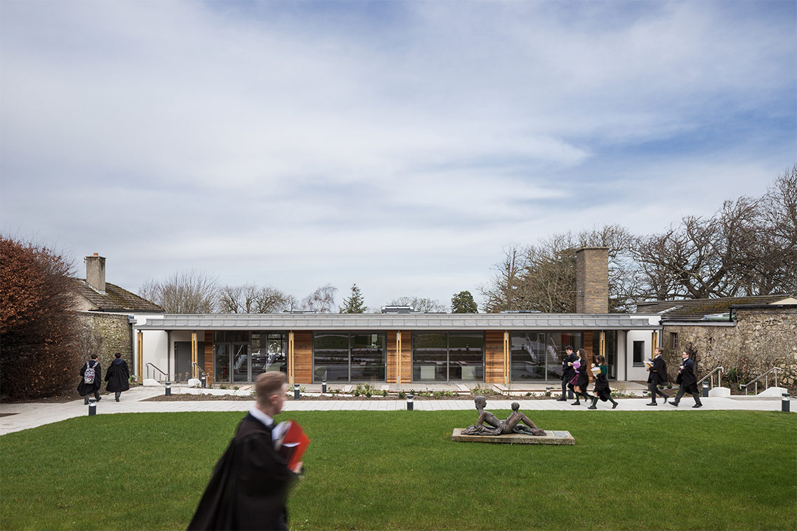 Whispering House, a central hub designed by Coady Architects for St. Columba's College has been shortlisted for the RIAI Public Choice Award 2020.