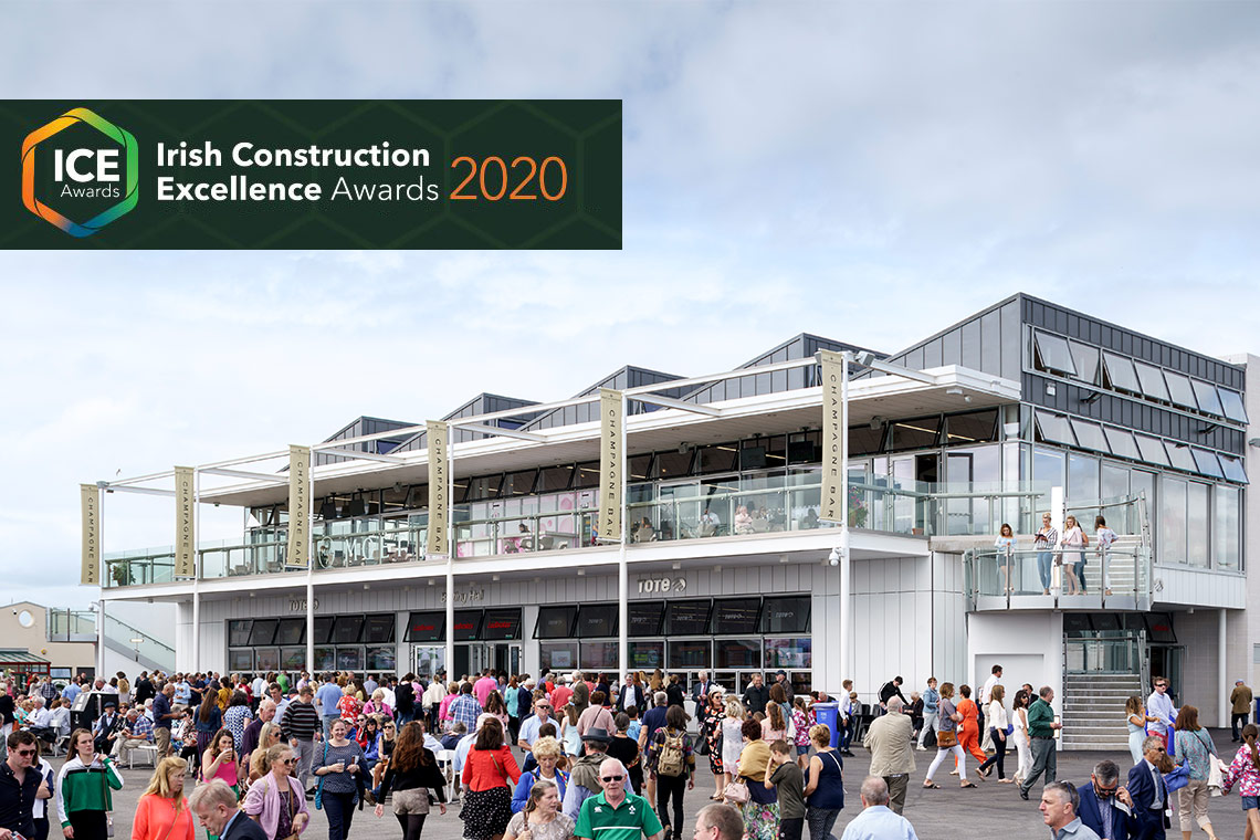 The Galway Racecourse Wilson Lynch building has been shortlisted for the 2020 Irish Construction Excellence Awards.